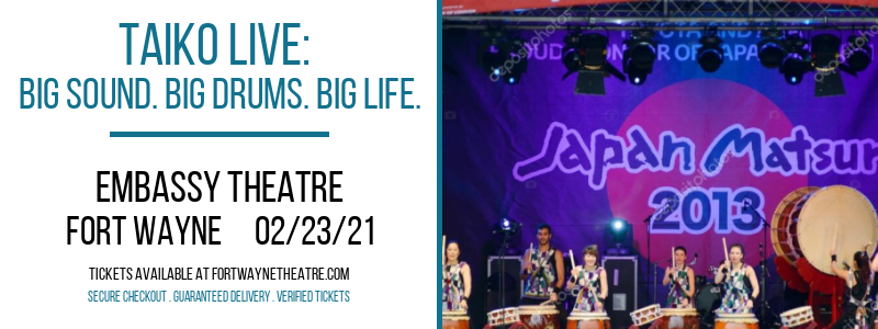 Taiko Live: Big Sound. Big Drums. Big Life. at Embassy Theatre